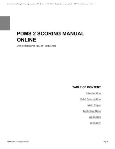scoring manual for plai 2