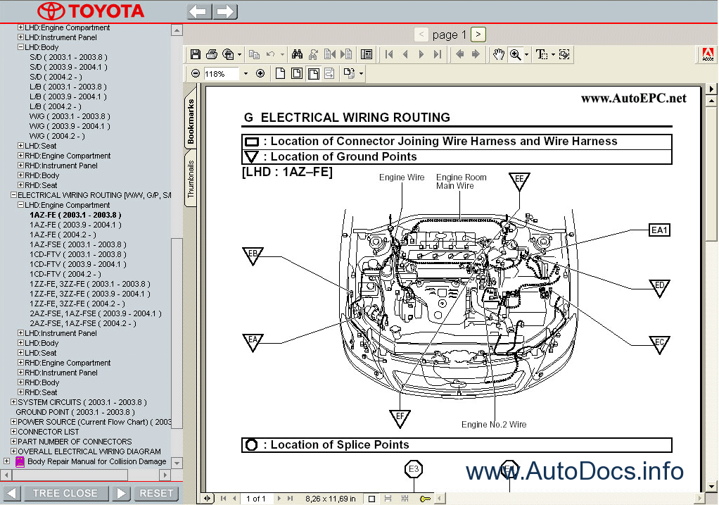 toyota avensis 2003 parts and accessories manual