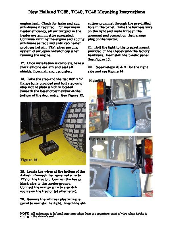 new holland tc35 parts manual