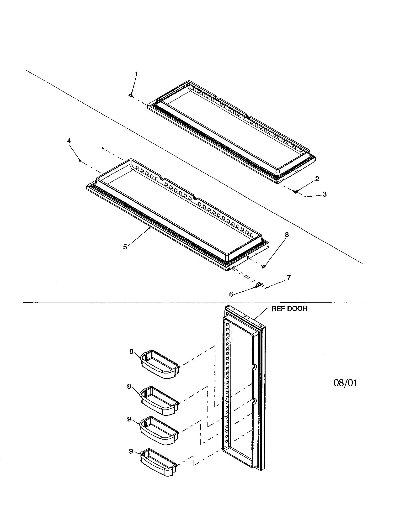 kenmore refrigerator parts manual model 106.74262400 parts numbers