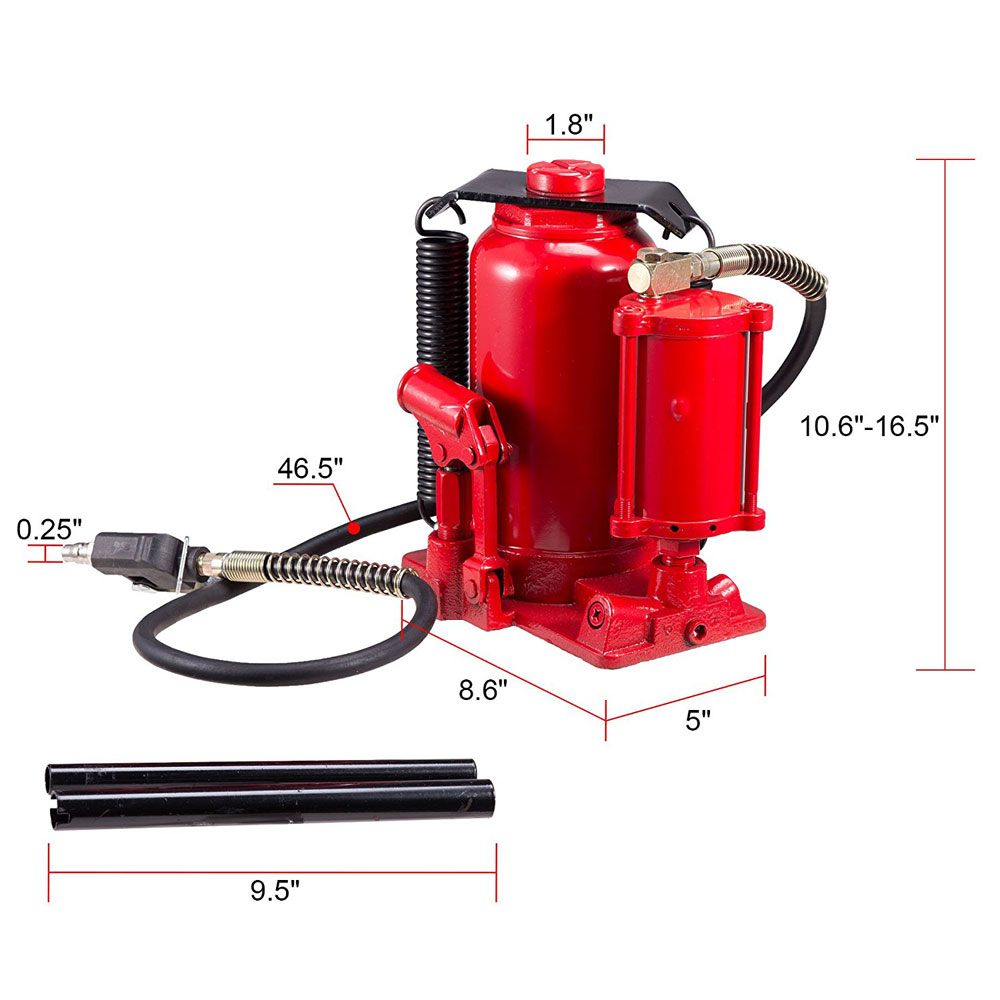 20 ton air over hydraulic torin jack parts manual