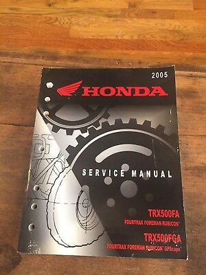 2017 honda foreman rubicon owners manual