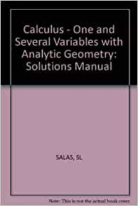 calculus one variable tenth edition solution manual