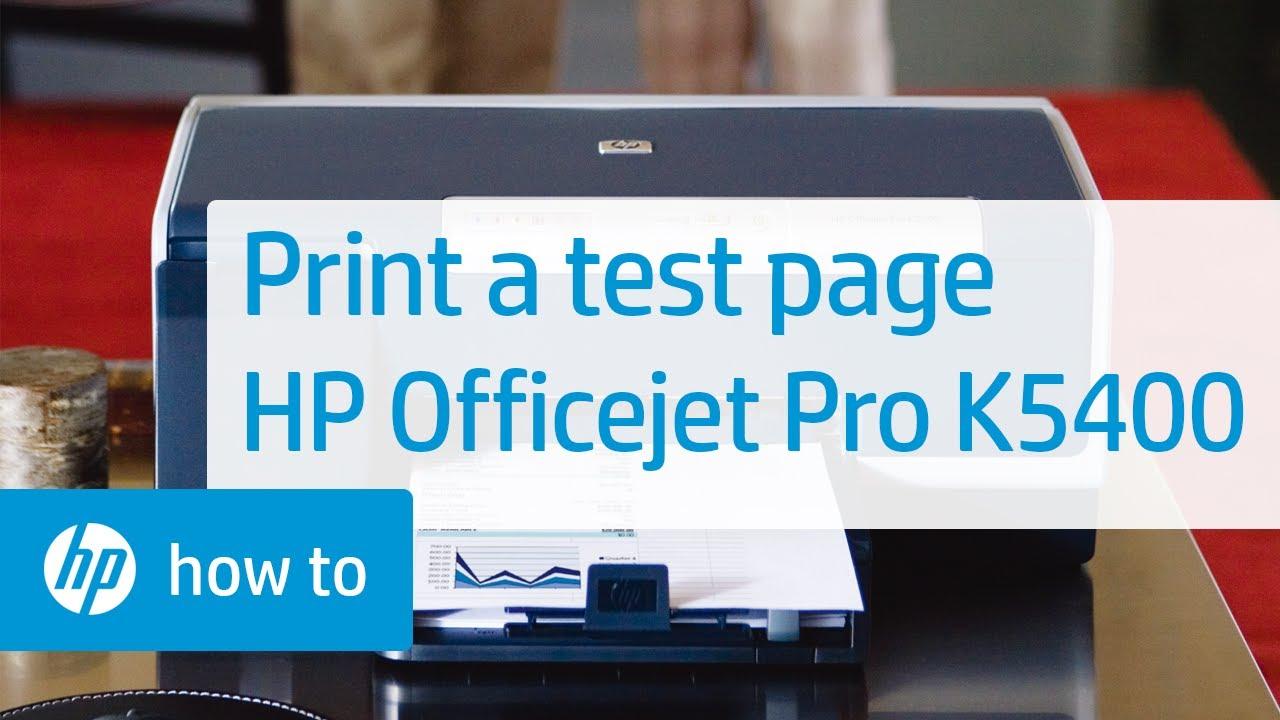 hp officejet pro k5400 printer manual