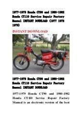 1975 honda ct90 repair manual