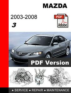mazda 3 2004 parts manual