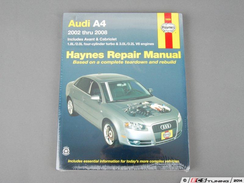 audi a4 b6 parts manual