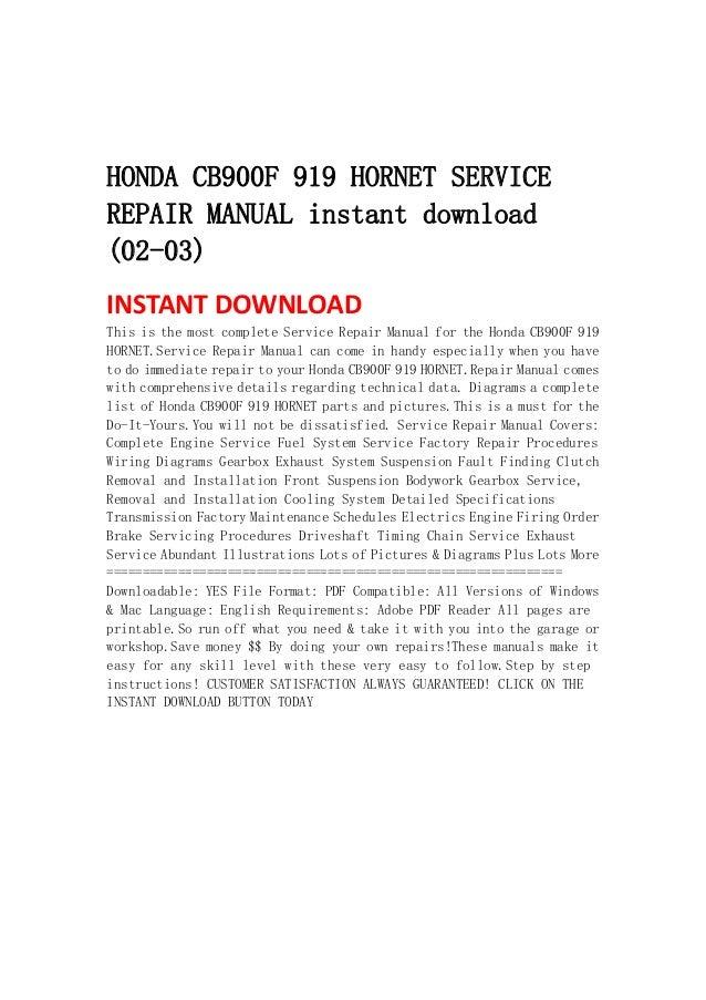 2006 honda 919 service manual