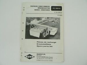 kuhn fc 300 parts manual