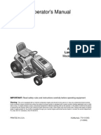 huskee riding mower parts manual