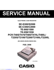 casio pcr t500 parts manual