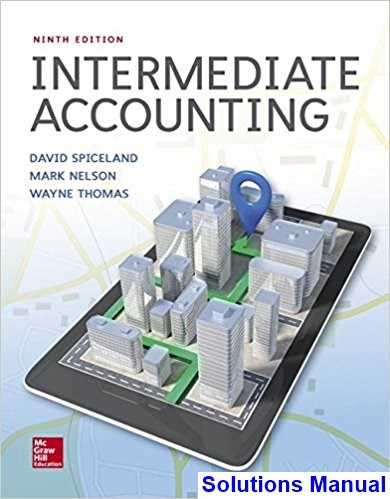 intermediate accounting sixth edition solutions manual