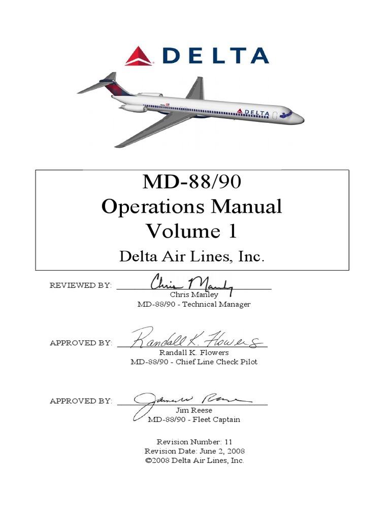 flight operations manual part b