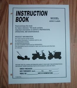 murray 18-42 tractor parts manual