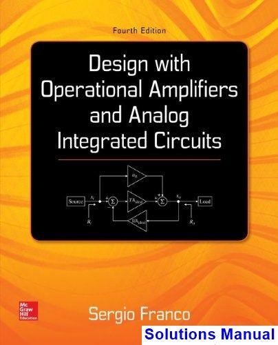 analog integrated circuit design solution manual