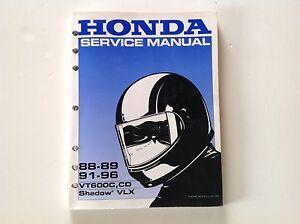 honda vt600c service manual free