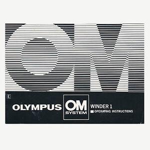 olympus winder 2 instruction manual