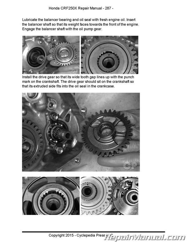 2008 honda crf250x service manual