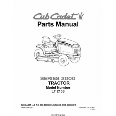 cub cadet lt1045 parts manual pdf