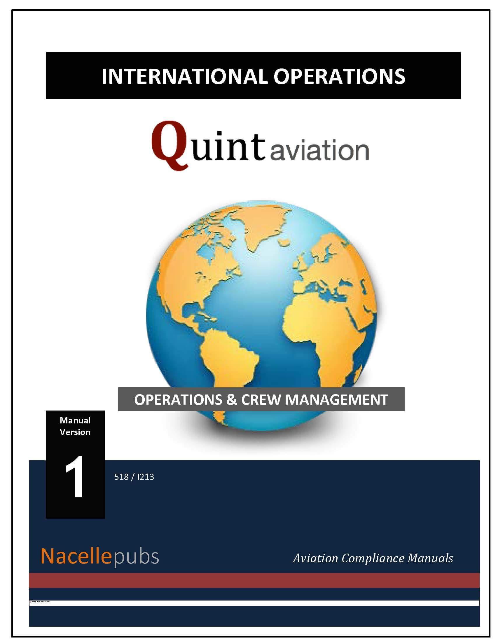 part 91 international operations manual