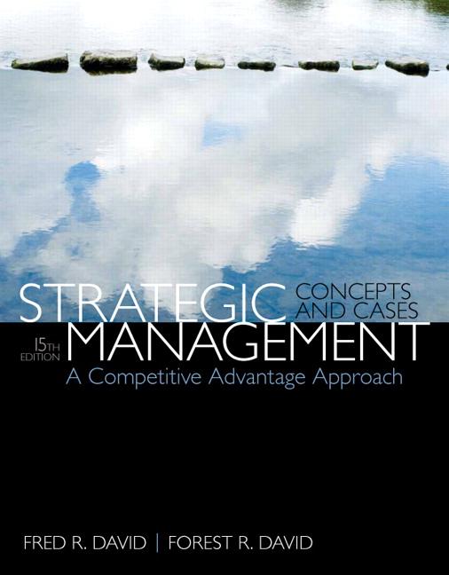 strategic management david solution manual