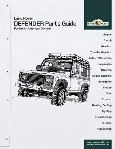 land rover defender spare parts manual