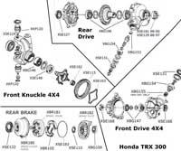 2003 honda rancher350 es manual shift lever