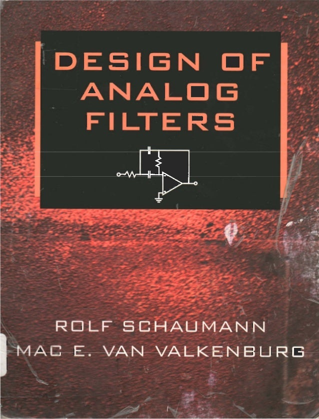 design of analog filters schaumman solution manual