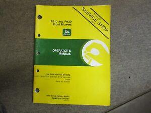 parts manual for a john deere f910 930