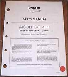 kohler model sv720s parts manual