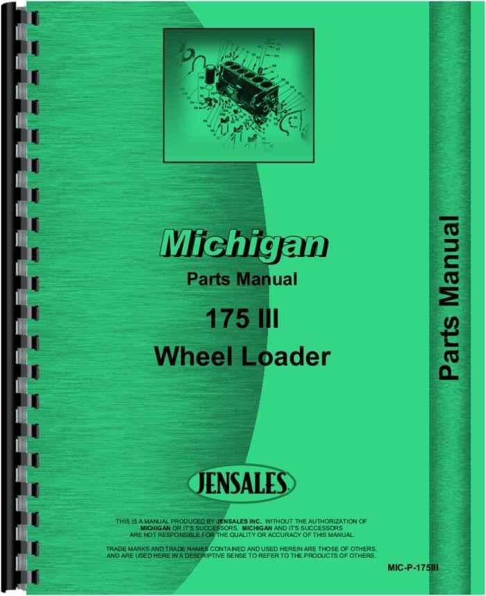 michigan loader parts 45bp parts manual
