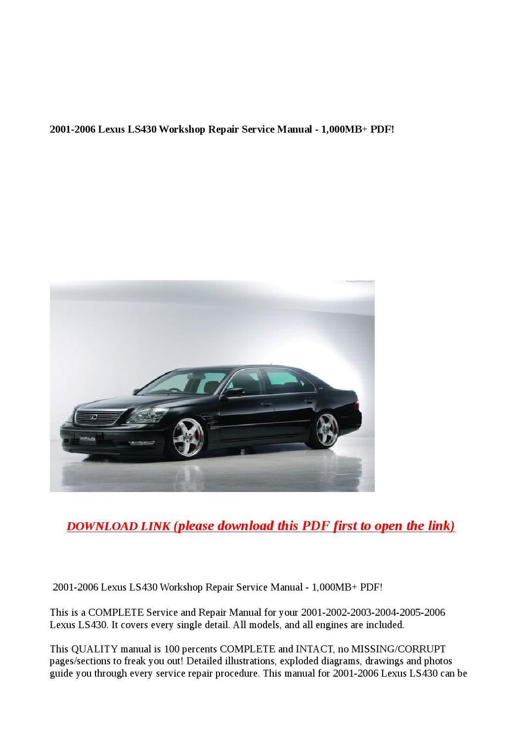parts manual 2006 lexus ls430