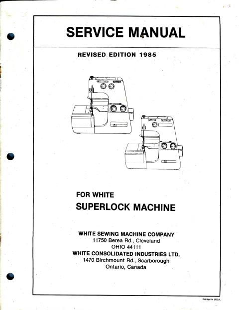 singer stylist 534 parts manual