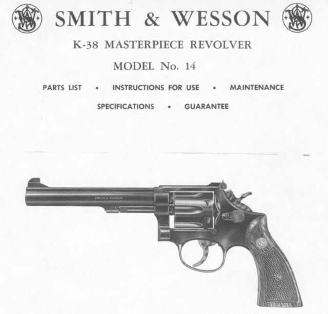 smith wesson factory parts manual