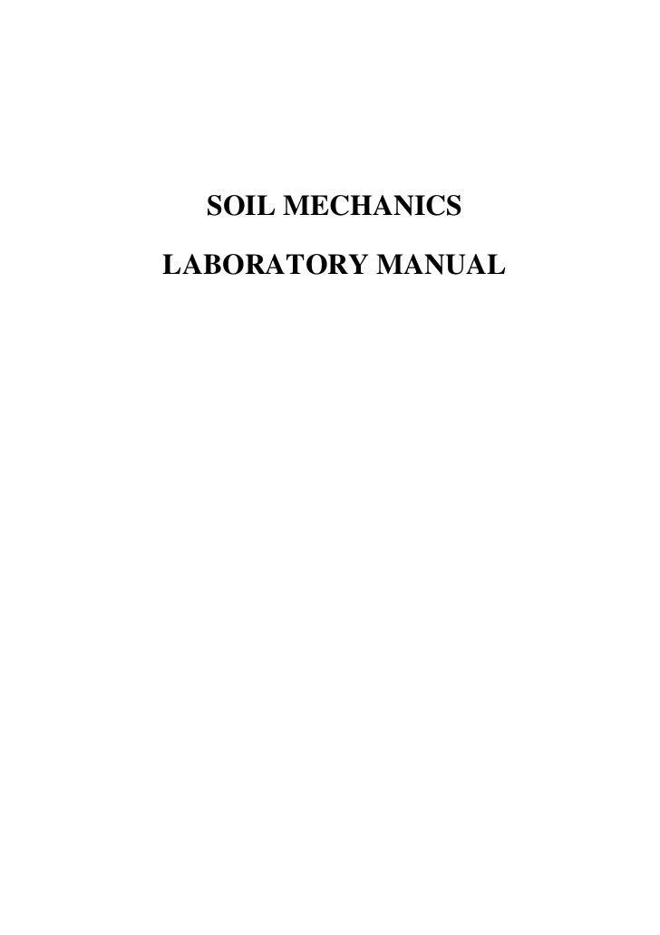 soil mechanics lab solution manual
