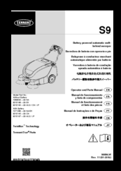 tennant 3640 electric parts manual