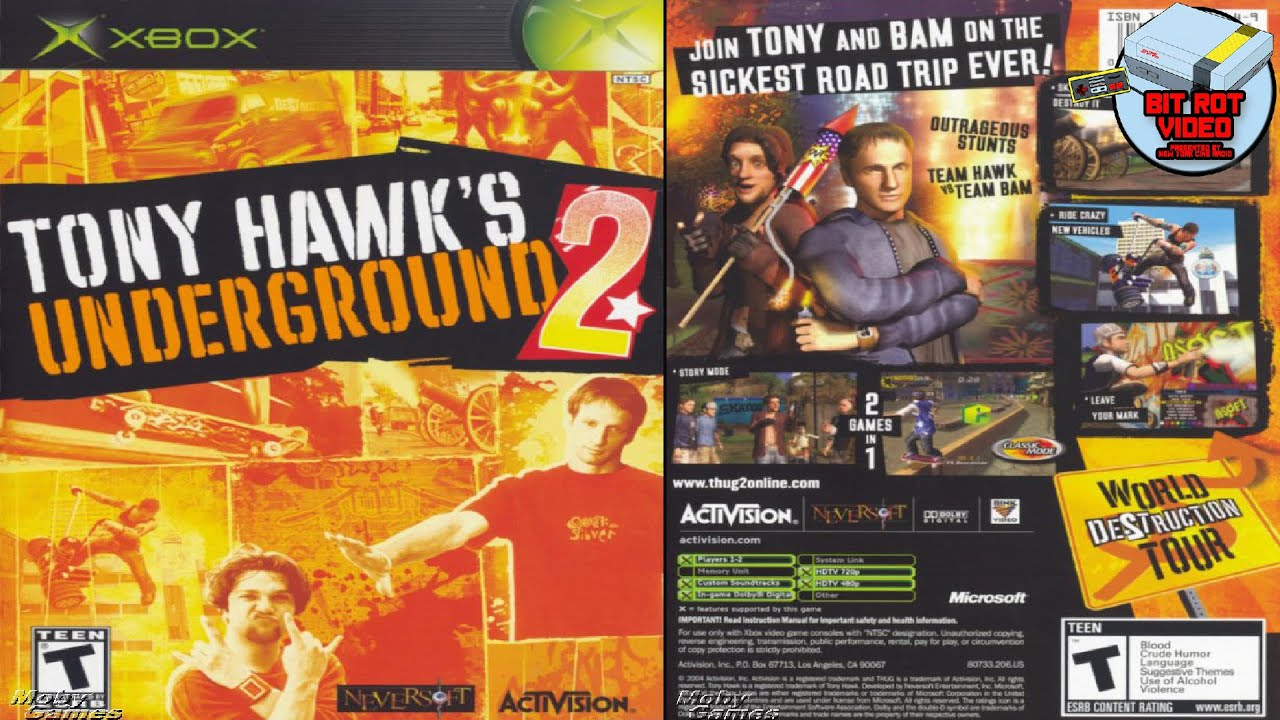 tony hawk underground 2 xbox manual