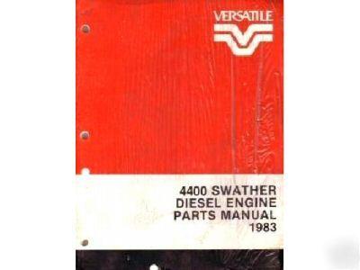 versatile 4400 swather parts manual
